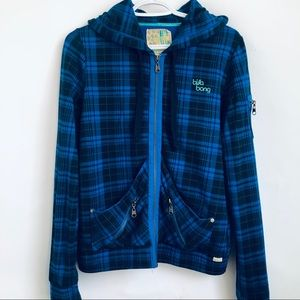 Billabong Blue Plaid Hoodie